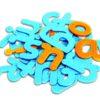 Демонстраційний набір букв на магнітах (англійська, німецька, французька, іспанська тощо) - Каса букв та буквосполучень
