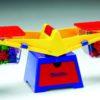 Контрольно-вимірювальні Терези демонстраційні з набором важків, набір мірного посуду (пластиковий)