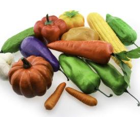 пластиковые модели овощей