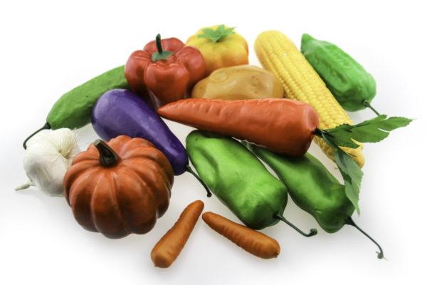 пластикові моделі овочів