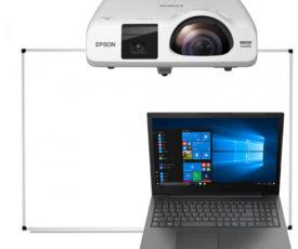 інтерактивний проектор, маркерна дошка і ноутбук