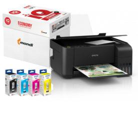 МФУ принтер сканер копир с чернилами и запасом бумаги